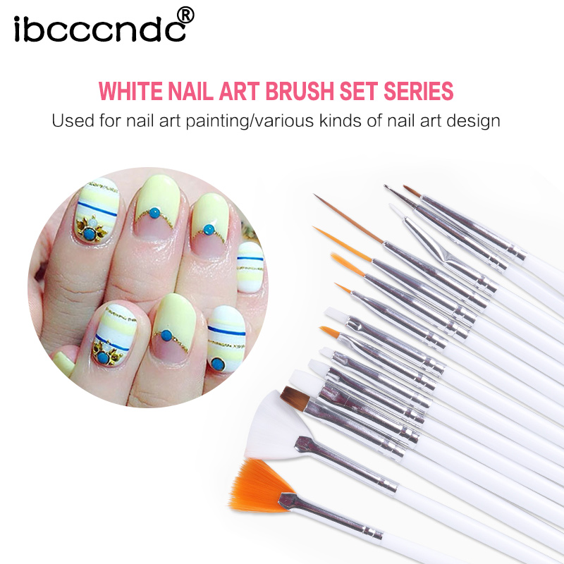 15 Brushes Manicure Nail Art Design Set UV Nail Gel Polish 3D Dotting Pens Painting Brush False Nail Tips Tools Nail Decorations nail rhinestones 3d nail art decorations hinning sharp flat bottom studs nail decor for uv gel polish manicure in wheel