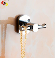 Free Shipping Bathroom Accessory With Brass Fancy Single Robe Hook For Shower Rail