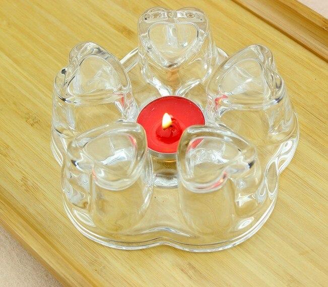 1 PC Bule Base de Aquecimento Mais Quente Do Coração Perfumado Chá de Café Da Água Trempe de Vela de Vidro Transparente Base de Isolamento de Calor Oposição JQ 1076|Jogo para chá| |  -