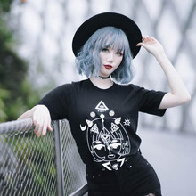 NiceMix Nice Printings Cool Loose Black T-Shirt Anime Summer Cotton T Shirt Fashion Casual Short Sleeve TEE Tops Bestie Clothes