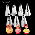 7pcs/set Wedding Russian Nozzles Pastry Puff Skirt Icing Piping Nozzles Pastry Decorating Tips Cake Cupcake Decorator Tool 52051