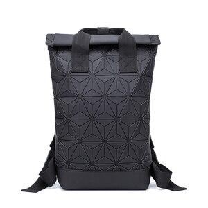 Image 2 - Модные женские рюкзаки 2021, Светящийся рюкзак с геометрическим рисунком, большой мужской школьный рюкзак для ноутбука, рюкзак на плечо для путешествий с голографическим рисунком