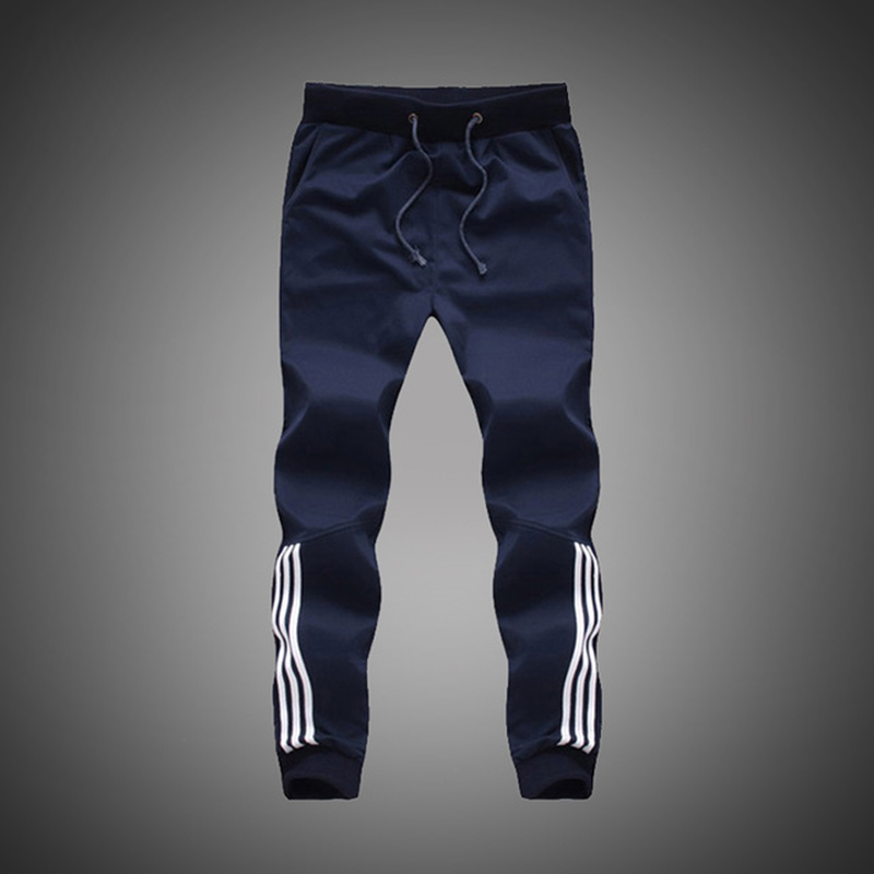 Big Size 5XL 2019 New Fashion Tracksuit Skinny  Mens Casual Pants Cotton Sweatpants Mens Joggers Striped Pants Gyms Trousers