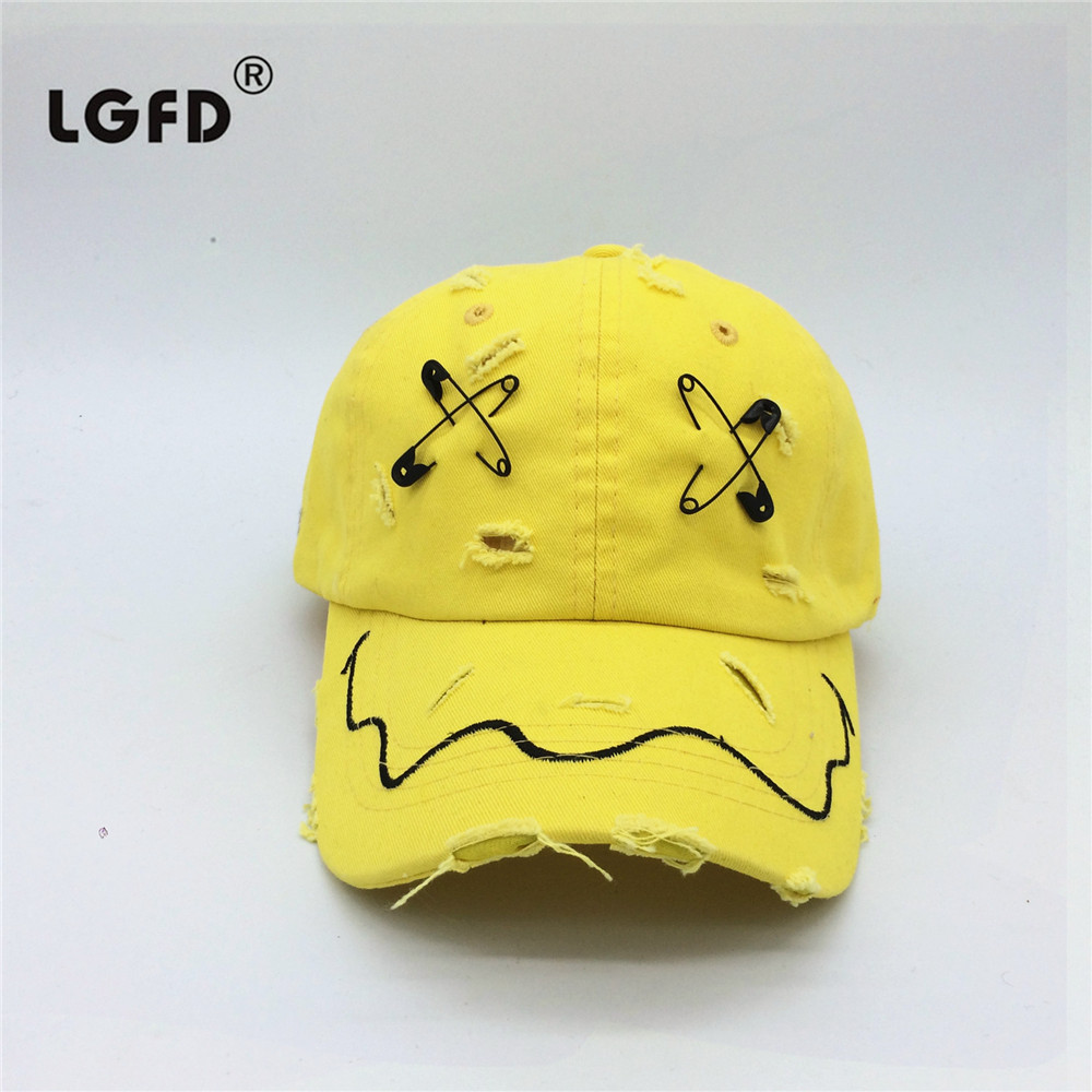 626e3a19aa3 Detail Feedback Questions about 2018 MEN UNISEX Washing frayed black yellow  hat pin YELLOW COTTON baseball caps on Aliexpress.com