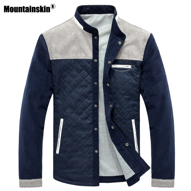 Mountainskin Spring Autumn Men's Jacket Baseball Uniform Slim Casual Coat Mens Brand Clothing Fashion Coats Male Outerwear SA507 1