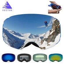 VECTOR Brand Ski Goggles Double UV400 Anti-fog New Big Ski Mask Glasses Skiing Professional Men Women Snow Snowboard Goggles
