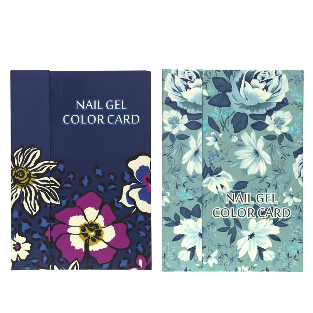 Nail art color violet - Professional 180 Colors Nail Art Display Color Book Chart Salon Acrylic Gel Tips Display Card