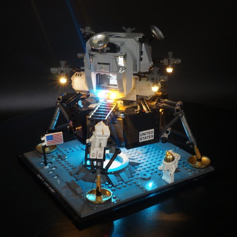 Kyglaring Led Light Up Kit  For 10266 Apollo 11 Moon Landing Bin
