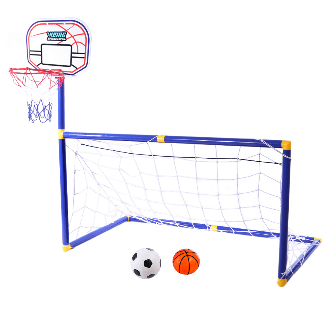 2 In 1 Children Sports Equipment Football Goal Basketball Stands Sports Toys For Kids Children  For Kids Outdoor Toy Hot Sale