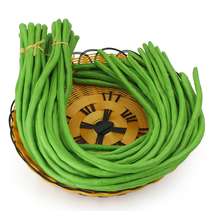 050 PU simulation of long bean model bean bean prop kitchen hotel dishes sample decoration in Artificial Foods Vegetables from Home Garden