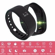 V66 Inteligente Pulseira Bluetooth Heart Rate Monitor de Esporte Relógio Inteligente IP67 À Prova D' Água Pulseira Saúde Inteligente para Android iOS Telefone