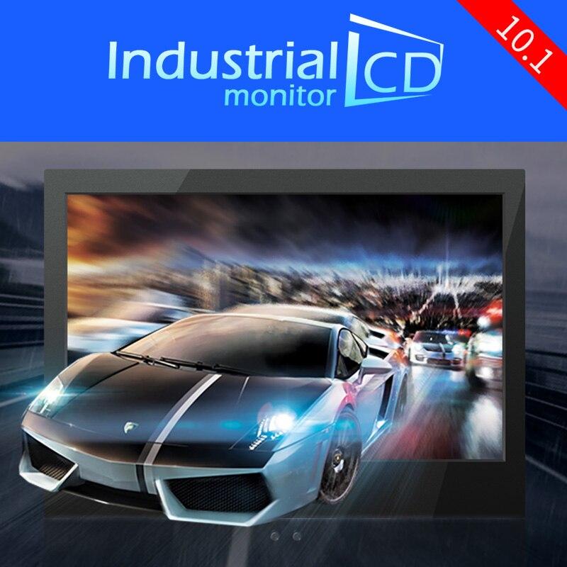 Промышленный 10,1 дюймовый ЖК-монитор, 10,1 дюймовый широкий экран 16:10 IPS, цветной ЖК-монитор, звуковой динамик для безопасности компьютерных иг...