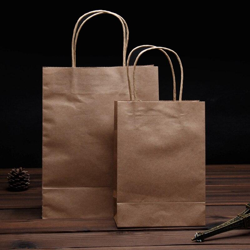 8cfb6e53f Atacado brown kraft papel carregar sacos recicláveis saco sacos estampados  publicidade promoção saco de embalagem universal frete grátis em Sacolas de  ...