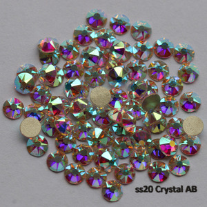 Image 5 - 1440pcs/Lot, AAA New Facted (8 big + 8 small) ss20 (4.8 5.0mm) Crystal AB Nail Art Glue On Non hotfix Rhinestones