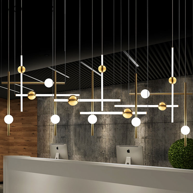 Postmodern Gold Led Pendant Lights Luxury Cylinder Hanging Lamp Dining Room Bedroom Office Stair Light Fixtures Home Art Decor|Pendant Lights| |  - title=