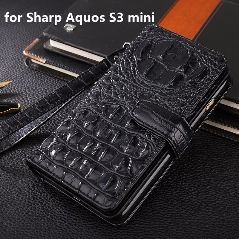 Luxury Business Wallet Phone Cases For <font><b>Sharp</b></font> Aquos S3 mini Cover PU Leather <font><b>Handbag</b></font> Bag Cover for <font><b>Sharp</b></font> Aquos S3 mini Case Coque