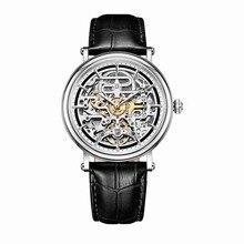 Riff Tiger Künstler Serier RGA1917 Männer Geschäfts Vintage Hallow Out Zifferblatt Automatische Mechanische Wrsit Uhr