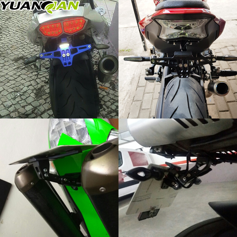 Motocicleta ángulo ajustable licencia número placa marco soporte ...