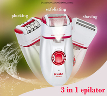 3 in 1 Head Female Epilator Electric Shaver Hair Remover Women's shaving machines For Armpit Bikini Legs Personal Care