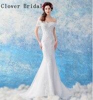 Simple Blanc De Mariage Robes Étage Longueur Robes Noiva Avec Manches Longues Robe De Mariée Robes de Mariée 2018