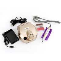 Gold Nail Tools Electric Nail Drill Machine 30000RPM Nail Art Equipment Manicure Kit Pro Salon Home