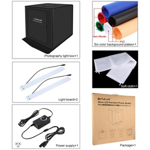 Image 5 - PULUZ 40*40cm 16inc 미니 사진 스튜디오 박스 라이트 박스 Photograghy Softbox Led 사진 조명 스튜디오 촬영 텐트 박스 키트 라이트 박스
