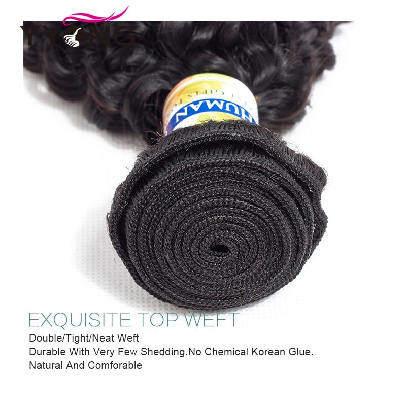 Yyong Haarbündel mit Spitzenverschluss Frontal Günstige Curly - Menschenhaar (für Schwarz) - Foto 3