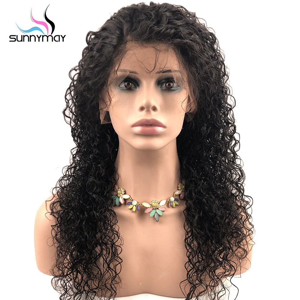 Sunnymay 13x4 Curly Lace Front Wig with Baby Hair Pre Plucked Lace Front Human Hair Wigs
