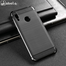 Akabeila For Samsung Galaxy M20 Case Soft Silicone Brushed Carbon Fiber Cover M10 Rugged Armor Phone Cases