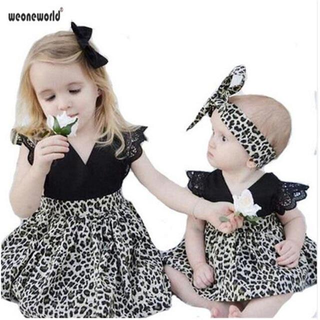 Weoneworld 2018 New Fashion Baby Girl Dress Western Hot Sister