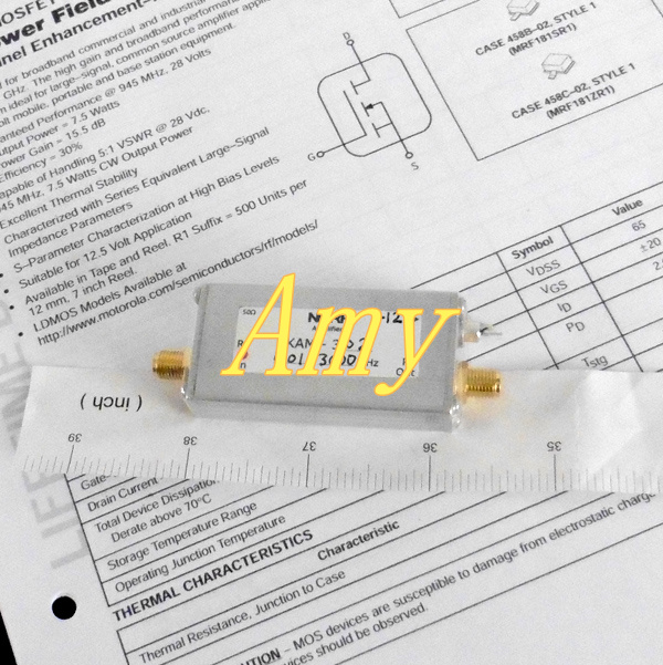 10 kHz à 2.5 GHz (3.0 GHz) UWB haute gain général RF micro-ondes amplificateur