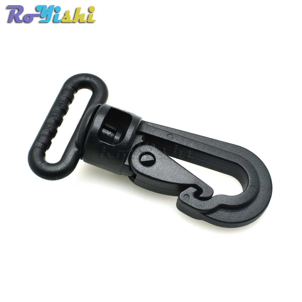 10 Pieces Durable Plastic Swivel Snap Hook Clip for Backpack Webbing Belt Strap
