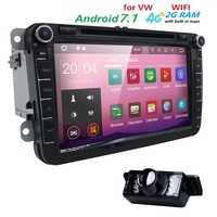 Android 7 1 2 DIN Car DVD GPS For Volkswagen VW Skoda Passat B6 B7 B5