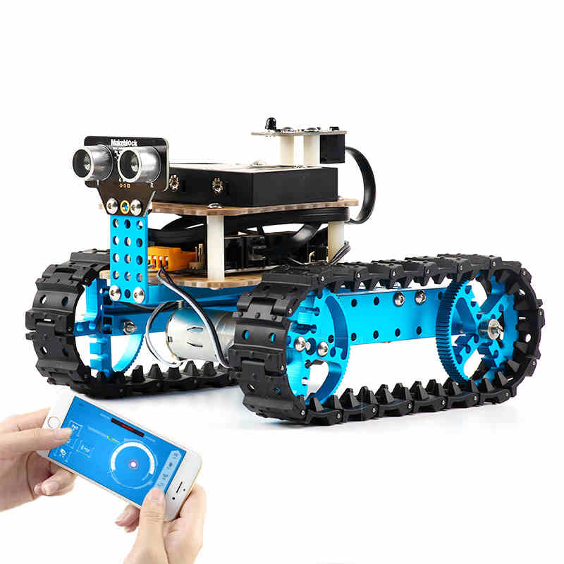 Puzzle Intelligent Robot Starter Children Programmable Early Learning Education Toys diy assembly puzzle metal intelligent control robot children educational toys