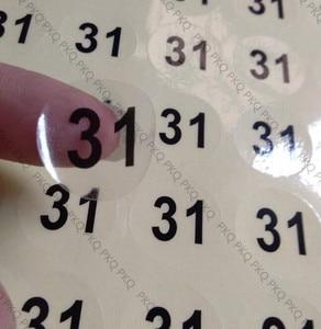 Image 2 - Customized transparent PVC sticker waterproof adhesive label printed Customer logo free shipping 1000pcs 2cm/3cm/4cm/5cm/6cm