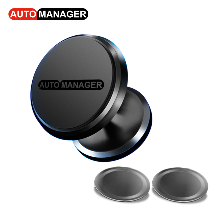 Magnetic Car Phone Holder 360 Rotation Adjustable Auto Universal Mobile Cell Phone Support Stand
