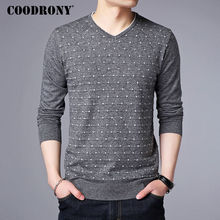 COODRONY Cashmere Pullover Males 2017 Autumn Winter Heat Wool Sweater Males Model Clothes Informal V-Neck Mens Sweaters Knitwear 7141