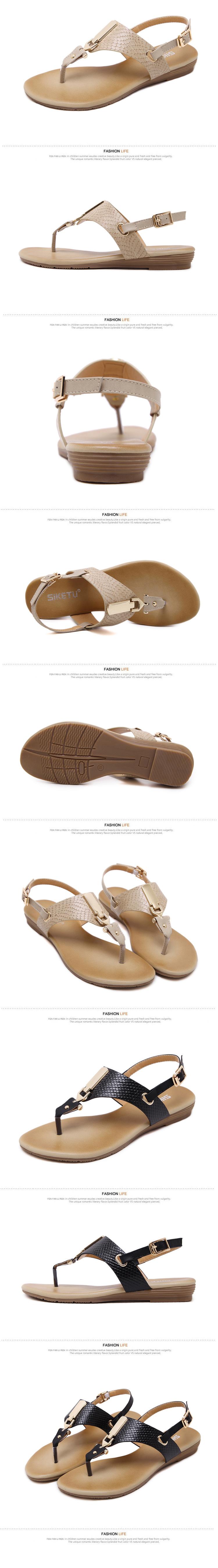 eec5691f8604b SUKETU Woman Shoes 2017 The Sandals Retro Style Flats Women s ...