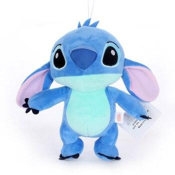 Alta calidad Kawaii Stitch felpa muñeca juguetes Anime Lilo y Stitch 20 cm Stich juguetes de peluche para niños cumpleaños regalo