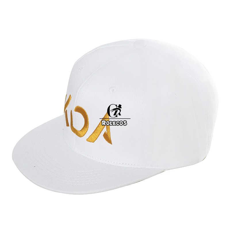 ROLECOS Oyun LOL KDA Akali Cosplay Şapka LOL K/DA Akali Prestige Edition Şapka Cosplay Sahne Erkekler Kadınlar için cosplay Beyaz Şapka