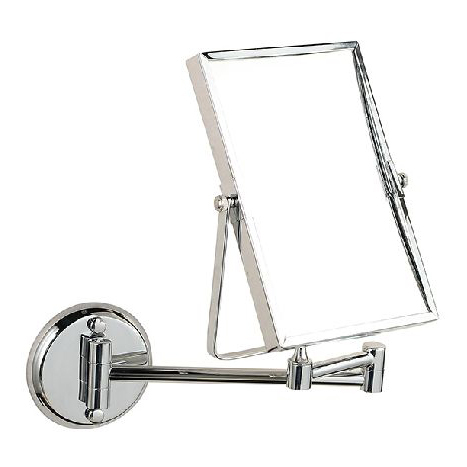 8 Double Side Bathroom Folding Brass Shave Makeup Mirror Chromed Wall Mounted Extend With Arm