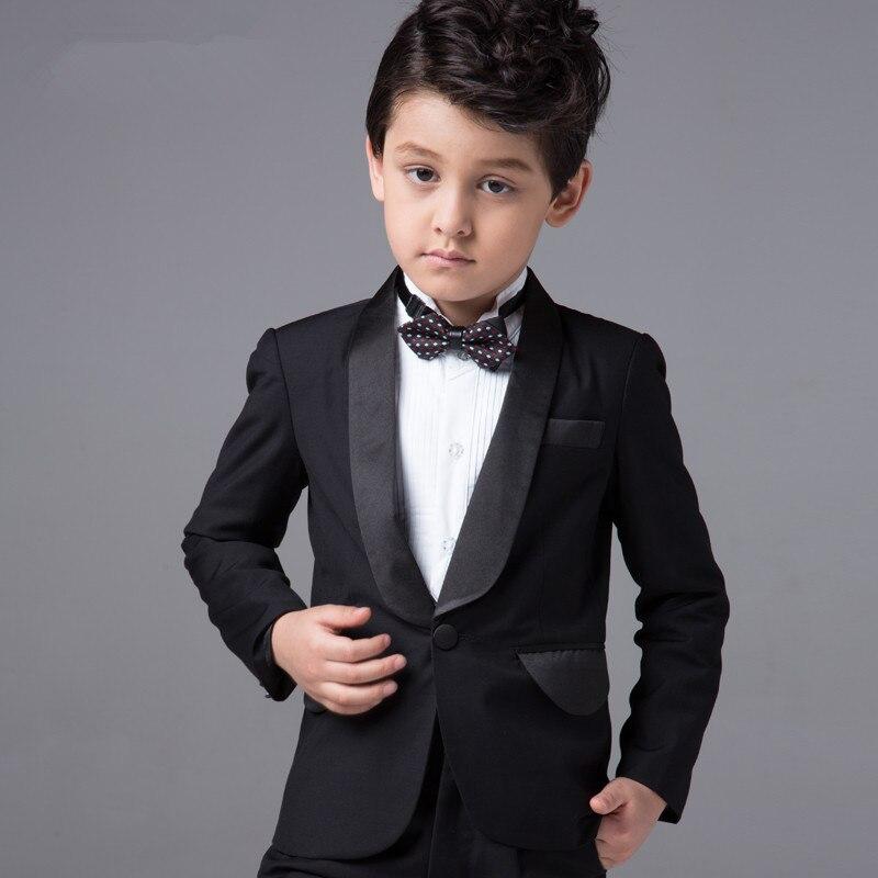 bc0fda2ba Formal Wear Boys (Coat+Pants+Tie+Shirt) BF815 Custom Made Smoking Casamento  Evening Tuxedo Suit Boy clothing