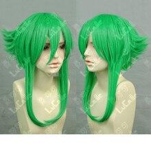 VOCALOID Megpoid Gumi Anti-Alice hierba verde pelo resistente al calor peluca  Cosplay + gratis peluca gorro 1999206dfbb1