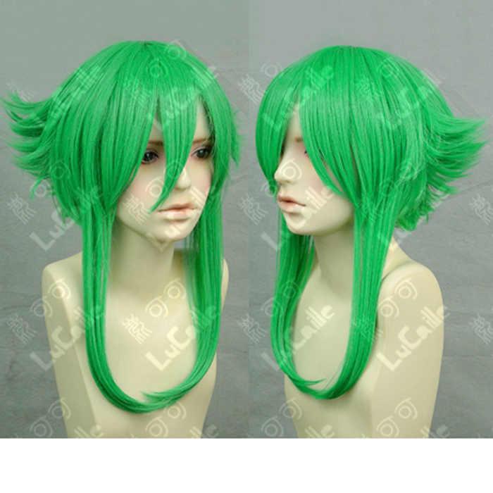 VOCALOID Megpoid Gumi anti-alice trawa zielona żaroodporne włosy przebranie na karnawał peruka + darmowa peruka Cap