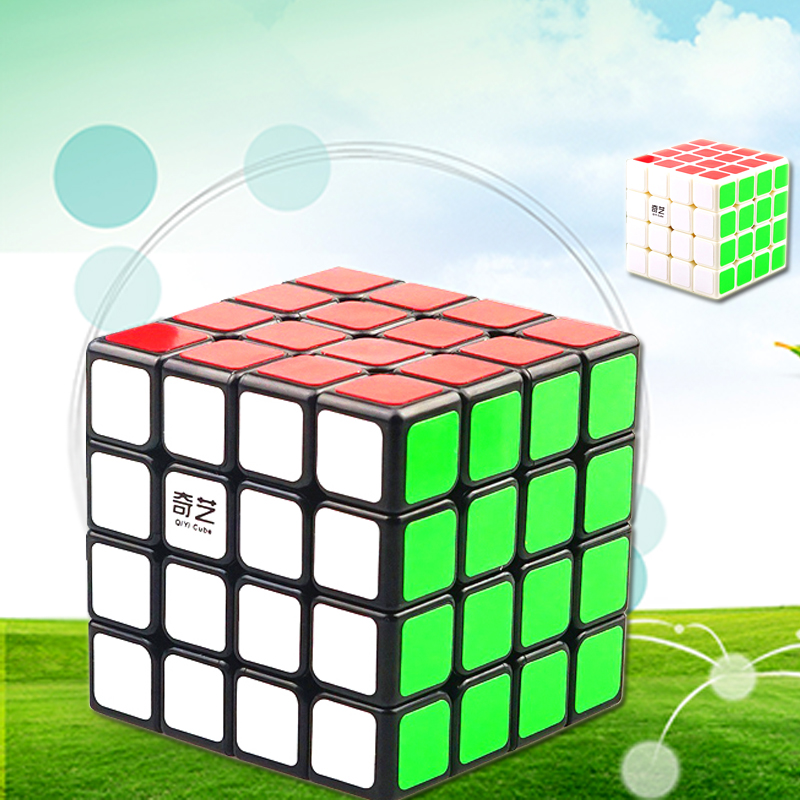 Qiyi New 4x4x4 Professional Speed Magic Cube Stickerless Magic Cube 4x4 Puzzle Educational Toys For Kids