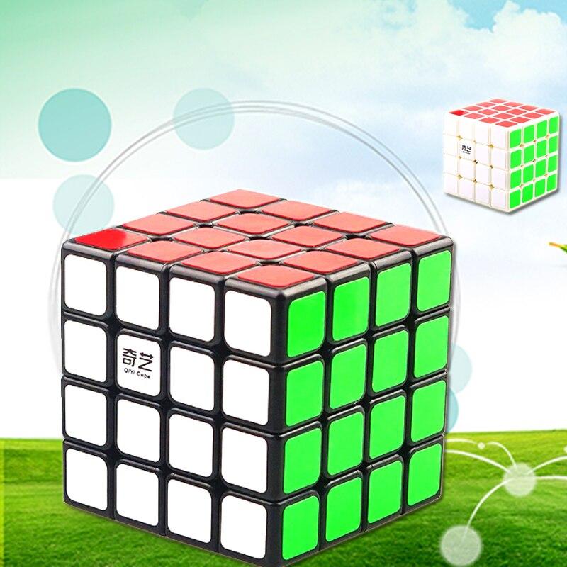 Qiyi Nouveau 4x4x4 Professionnel Magic Speed Cube Stickerless Magic Cube 4x4 Puzzle Jouets Éducatifs pour Enfants