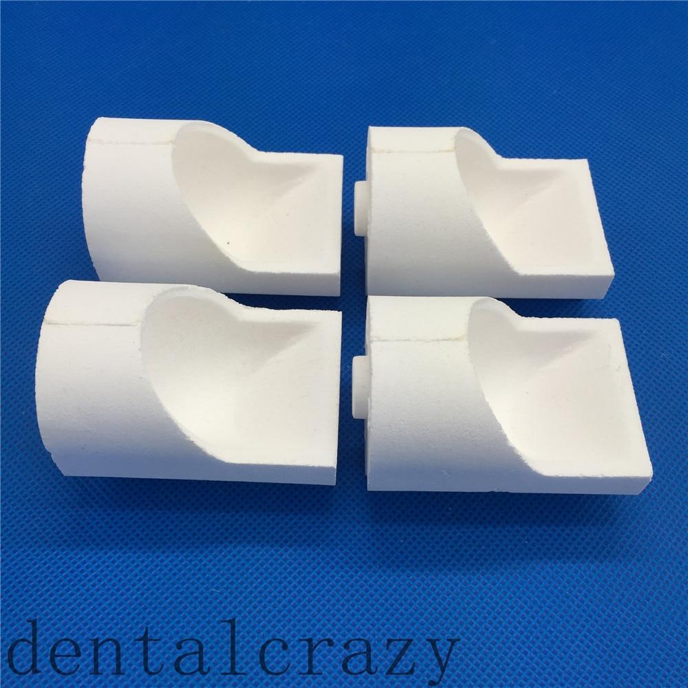 New Dental Lab 4pcs Casting Quartz Crucible Hooded,Quartz Zirconia Centrifugal Casting Crucible Hooded