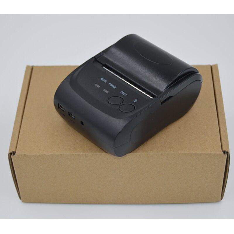58 mm Portativ Mobil Printer Simsiz Bluetooth Printer Mini Termal - Ofis elektronikası - Fotoqrafiya 5