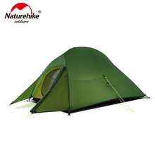 Naturehike Upgraded Cloud Up 2 Ultralight Tent Free Standing 20D Fabric Camping Tents For 2 Person With free Mat NH17T001-T(China)
