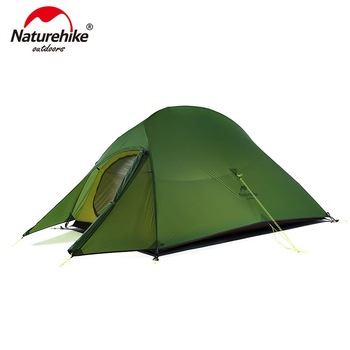 Naturehike Upgraded Cloud Up 2 Ultralight Tent Free Standing 20D Fabric Camping Tents For 2 Person With free Mat NH17T001-T naturehike 1 2 man camping tent outdoor 1 2 person ultralight hiking camp tents 1 25kg pu 4000mm